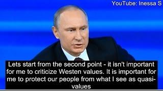 Putin: the West has no morals