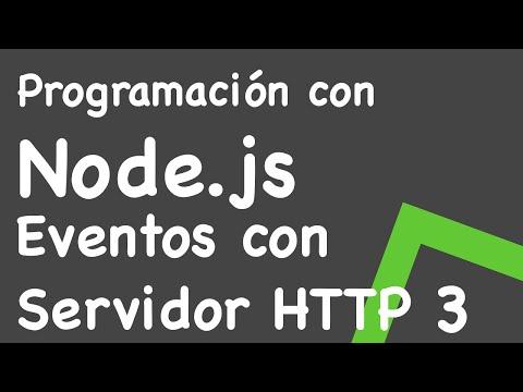 Manejando eventos en Node.js con un servidor HTTP