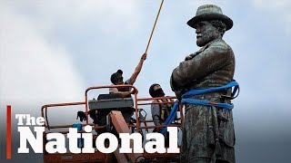 Confederate monuments removed and covered up overnight across the U.S.