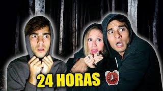 24 HORAS EN UN BOSQUE TERRORÍFICO! *en una tumba*