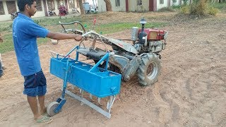 Powertiller groundnut seeder or planter is a seeddrill which operated by powertiller !!!!!!