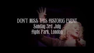 """Carole King Performing """"Tapestry"""" in Hyde Park 3 July, 2016"""