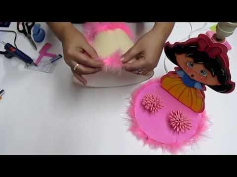 DIY Lampara Blanca Nieves en Foami Goma Eva Microporoso Easy Crafts