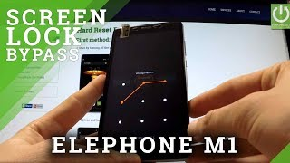 Hard Reset ELEPHONE M1 - bypass Screen Pattern by Recovery Mode