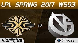 SS vs VG Highlights Game 1 LPL Spring 2017 W5D3  Snake vs Vici Gaming
