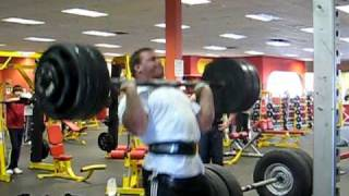 Derek Poundstone 400lb axle clean and press for a double