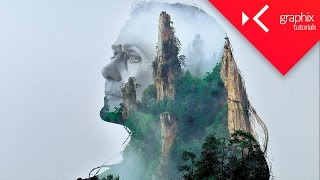 How To Make a Double Exposure - Adobe Photoshop CC 2015 - GraphixTV