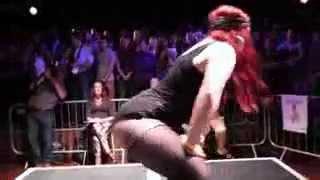 Badee Harz aka Katy Perry Lookalike   UK Twerking Championships Best Bits   YouTube
