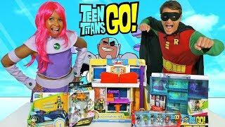 Teen Titans Go Toy Challenge - Starfire Vs Robin !     Toy Review    Konas2002