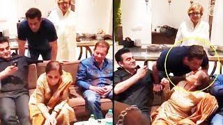 (VIDEO) Salman Khan's CUTE Moment With Mother Salma Khan At Her 71st Birthday Celebration 2017
