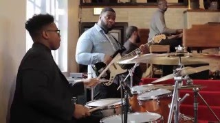 """15-year-old Jaylan Crout Playing Drums in Church (Part 1) """"How Great Is Our God"""""""