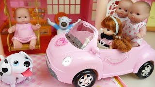 baby doll car and slide house park toys baby Doli play