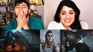 HORIZON ZERO DAWN (game) Story Trailer Reaction | Jaby & Kiana