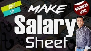 How to Make a Complete Salary Sheet in MS Excel_Salary Sheet with Formula #P-1