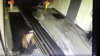 High speed accident at Quick Quack Car Wash