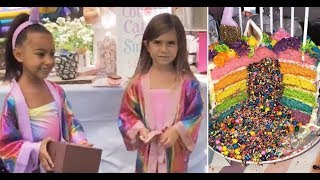North west and penelope disick joint-birthday celebration
