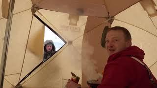 палатки для зимней рыбалки  после двух лет эксплуатации Медведь куб-3, СНЕГИРЬ 4Т лонг, ONLI TOP