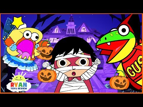 Xxx Mp4 Ryan Kids Halloween Trick Or Treat To The Haunted House Cartoon Animation For Children 3gp Sex