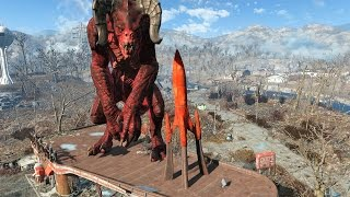 FALLOUT 4 - ALL GIANT MONSTERS FOUND!!!