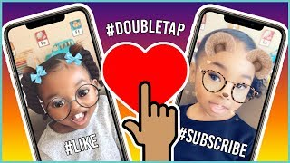 Snapchat filters Make Our Faces Funny On Daddy's iPhone | Pretend Play