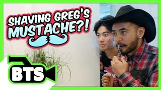 Greg Shaves His Mustache!? (BTS)