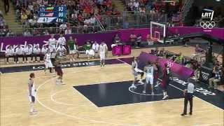 LTU vs. USA Lithuania Highlights | London 2012 Olympics