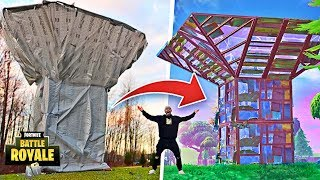 FORTNITE PORT-A-FORT IN REAL LIFE!! **Fortnite Items In Real Life DIY**