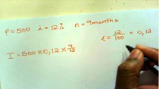Math Literacy Gr.12 - Simple & compound interest - part 1 - 16.10.2013