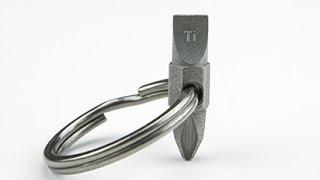 EDC - How to make Key Ring Screwdriver Multi tool DIY