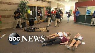 Police Practice Active Shooting Drill at Colorado High School