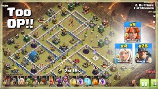 Too OP!!= 28 MINER+5 VALK | TH12 War Strategy #83 | COC 2018 |