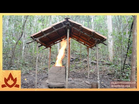 Primitive Technology: Barrel Tiled Shed