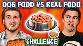 DOG FOOD VS REAL FOOD CHALLENGE! (ft. Teens React Cast) | Challenge Chalice