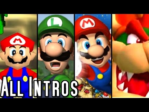 Mario Party ALL INTROS 1998 2015 Wii U Wii GCN N64
