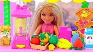 Barbie Fruit Juice Shop and Baby doll toys play Barbie Hair Shop kinder joy surprise