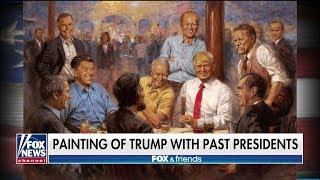 Painting of Trump Hanging Out With Past Republican Presidents Spotted on White House Wall