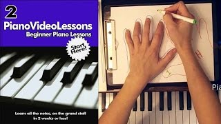 A-2  Piano Finger Numbers - Beginner Piano Video Lessons - Lesson 2