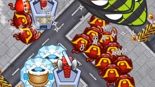THE BEST LATE GAME STRATEGY! Ninja + Ice + Village | Bloons TD Battles