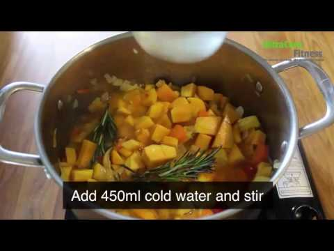 Warming squash soup - Free UltraCore Receipes - Winter warmer
