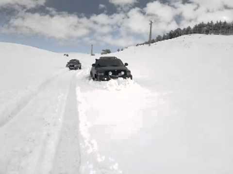 my dodje ram on the snow