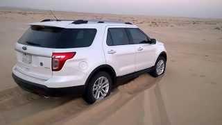 تجربة تغريز اكسبلورر (بدون تنسيم كفرات) Ford Explorer Stuck in Sand