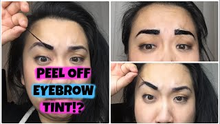 First Impressions: PEEL OFF Eyebrow Tint?!