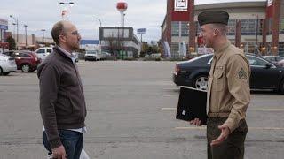 Soldier Returning From Afghanistan Surprises Total Stranger