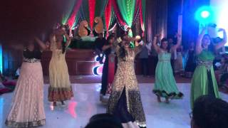 Azim and Shabana's BEST BOLLYWOOD INDIAN Sangeet Dance Performance EVER 2015 Bride's Side Part 1