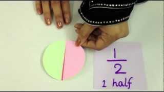 Fractions Part 2 - Grade 1 2 3 Mathematics - 1/4 One Quarter - 1/3 One Third - 3/4 Three Fourths