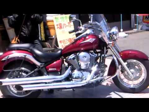 美人ライダー 美女 Kawasaki  vulcan custom night time バルカン 900