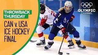 USA v Canada - Women's Ice Hockey Gold Medal Match - PyeongChang 2018   Throwback Thursday