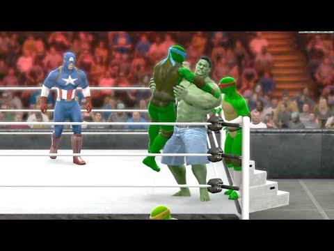 Avengers vs TMNT (Teenage Mutant Ninja Turtles) - WWE 2K15