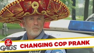 One Cop, Six Hats Prank