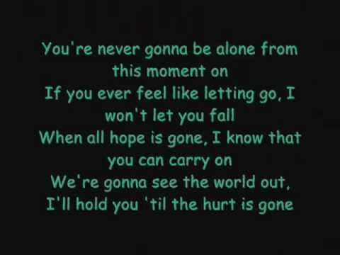 Never goona be alone by Nickleback with lyrices ENJOY!!!